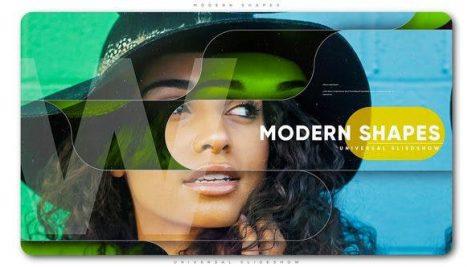 پروژه افترافکت با موزیک اسلایدشو مدرن Modern Shapes Universal Slideshow