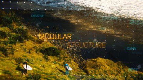 پروژه افترافکت با موزیک : اسلایدشو پارالکس Side and Up Parallax Slideshow