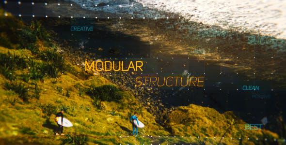 پروژه افترافکت با موزیک  اسلایدشو پارالکس Side and Up Parallax Slideshow