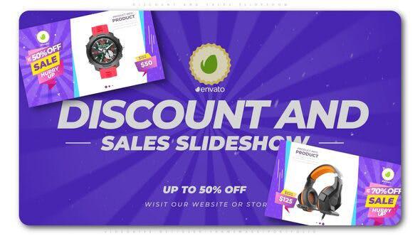 پروژه افترافکت با موزیک  تبلیغات حراج محصولات Discount and Sales Slideshow