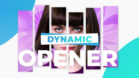پروژه افترافکت با موزیک  تیتراژ سینمایی و تیزر Dynamic Promo Modern Opener