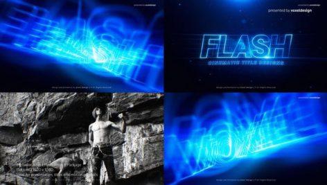 پروژه افترافکت با موزیک : تیتراژ سینمایی و تیزر FLASH Cinematic Title
