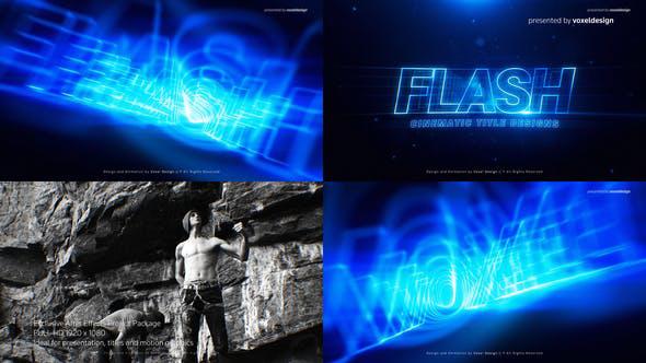پروژه افترافکت با موزیک  تیتراژ سینمایی و تیزر FLASH Cinematic Title