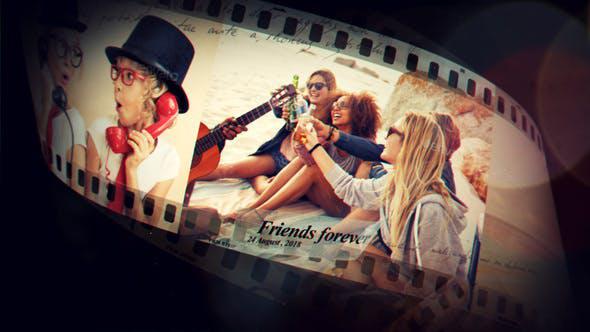 پروژه افترافکت با موزیک تیتراژ سینمایی و تیزر Funky Film Strip
