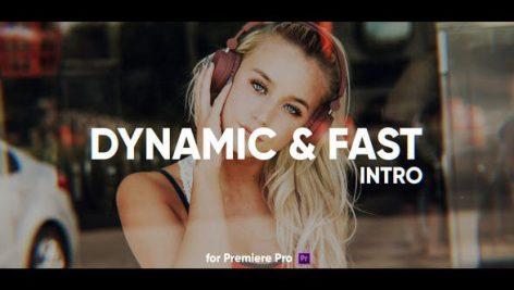پروژه پریمیر با موزیک : تیتراژ سینمایی Dynamic Fast Intro for Premiere Pro