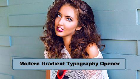 پروژه افترافکت با موزیک رزولوشن ۴K : تیتراژ Modern Gradient Typography Opener