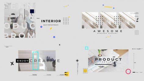 پروژه افترافکت با موزیک : معرفی لوازم منزل Visual Furniture Product Promo