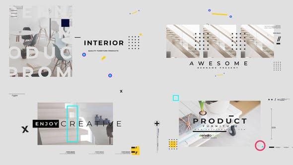 پروژه افترافکت با موزیک  معرفی لوازم منزل Visual Furniture Product Promo