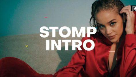 پروژه افترافکت با موزیک وله اکشن Stomp Intro