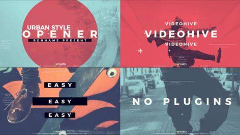 پروژه افترافکت با موزیک : وله تبلیغاتی و تیتراژ Urban Style Opener