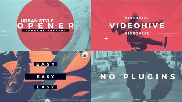 پروژه افترافکت با موزیک  وله تبلیغاتی و تیتراژ Urban Style Opener