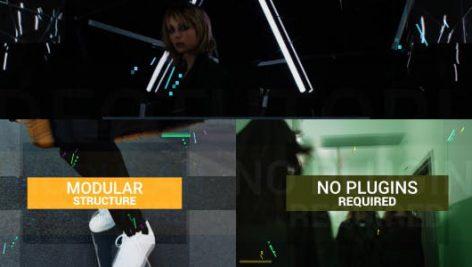 پروژه افترافکت با موزیک : وله مدرن Fast Modern Reel with Titles