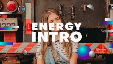پروژه افترافکت با موزیک : وله کوتاه Energy Intro