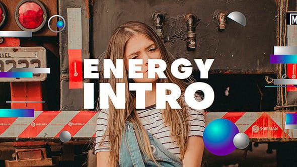 پروژه افترافکت با موزیک  وله کوتاه Energy Intro