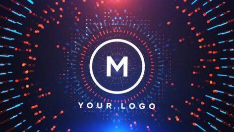 پروژه افترافکت رزولوشن  ۴K با موزیک اصلی : لوگو Circles Logo Reveal
