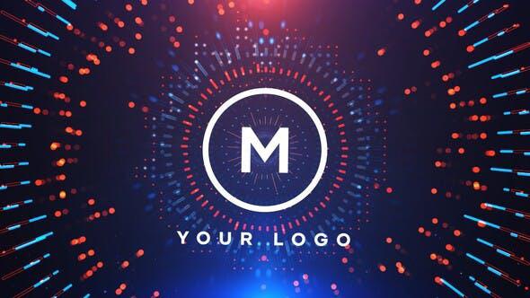 پروژه افترافکت رزولوشن  4K با موزیک اصلی  لوگو Circles Logo Reveal