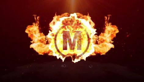 پروژه افترافکت لوگو با موزیک لوگوی آتشین Fire Surge Logo Reveal