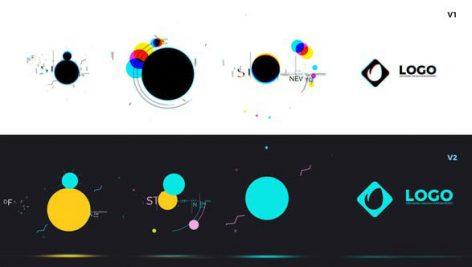 پروژه افترافکت لوگو با موزیک : لوگو رنگی Shape Logo Opener