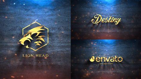 پروژه افترافکت لوگو با موزیک Silver Gold Logo Reveal