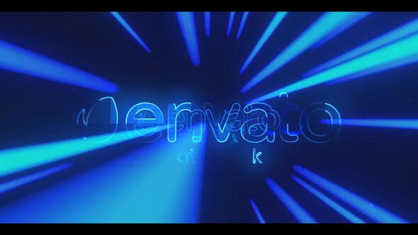 پروژه افترافکت لوگو 4K با موزیک  لوگوی نورانی Hyper Light Logo Reveal