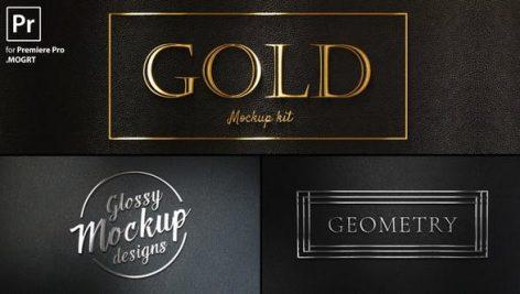 پروژه پریمیر با موزیک : لوگو طلایی و نقره ای Gold Titles Kit