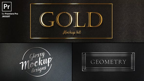 پروژه پریمیر با موزیک  لوگو طلایی و نقره ای Gold Titles Kit