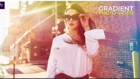پروژه پریمیر با موزیک : معرفی افراد Gradient Fashion Presentation