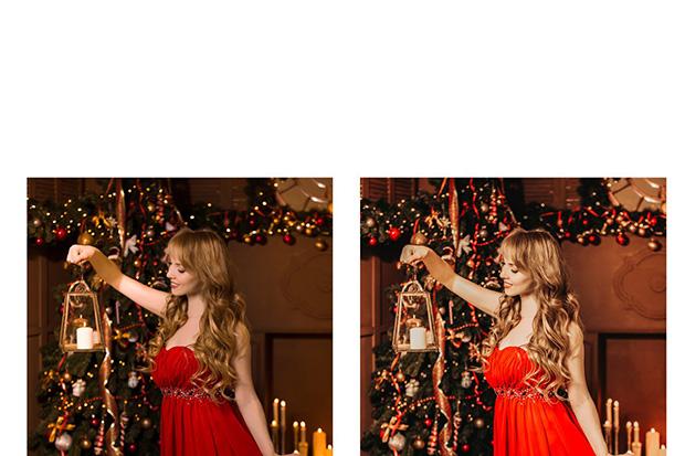 پریست لایت روم دسکتاپ و موبایل تم زمستانی Christmas Lightroom Presets