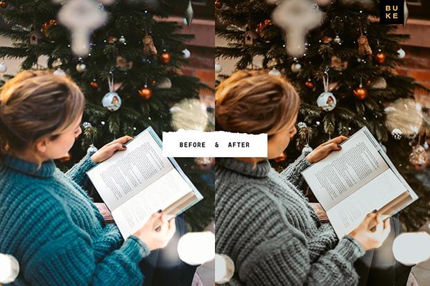 پریست لایت روم دسکتاپ و موبایل تم زمستانی Christmas Me Lightroom Bundle