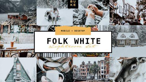 پریست لایت روم دسکتاپ و موبایل تم زمستانی Folk White Lightroom Presets Pair