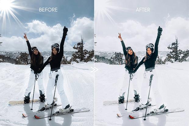پریست لایت روم دسکتاپ و موبایل تم زمستانی Vibrant SNOW DAY Lightroom Presets