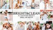 پریست لایت روم دسکتاپ و موبایل تم سفید Bright and Clean Lightroom Presets