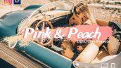 پریست لایت روم دسکتاپ و موبایل تم صورتی Pink and Peach Lightroom Presets
