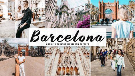 پریست لایت روم دسکتاپ و موبایل و کمرا راو Barcelona Mobile Desktop Lightroom