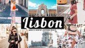 پریست لایت روم دسکتاپ و موبایل و کمرا راو Lisbon Pro Lightroom Presets