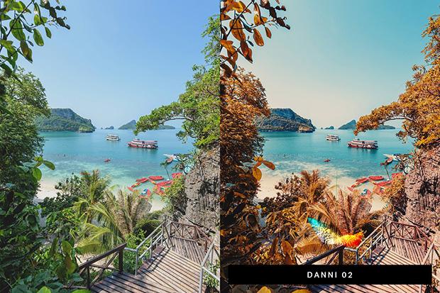 پریست لایت روم دسکتاپ و موبایل و LUT رنگی Tropical Lightroom Presets LUTs