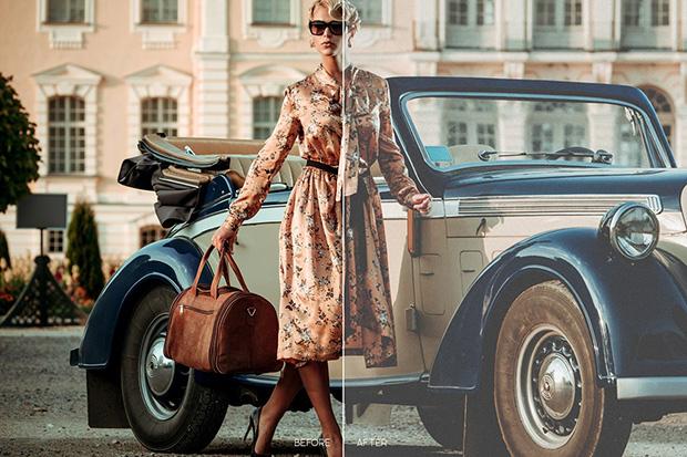 پریست لایت روم و کمرا راو برای فشن و اسپرت Vintage Mobile LR and ACR Presets