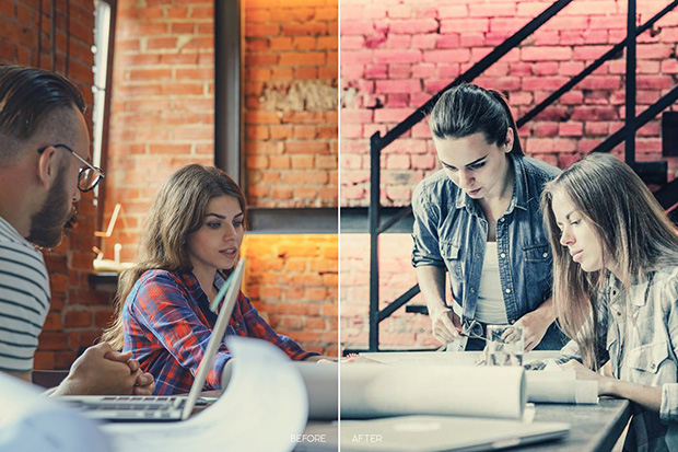 پریست لایت روم و کمرا راو  تم رنگی داخلی Indoor LR Presets for Mobile and Desktop