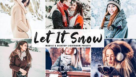 پریست لایت روم و کمرا راو تم رنگی زمستان Let It Snow Lightroom Presets