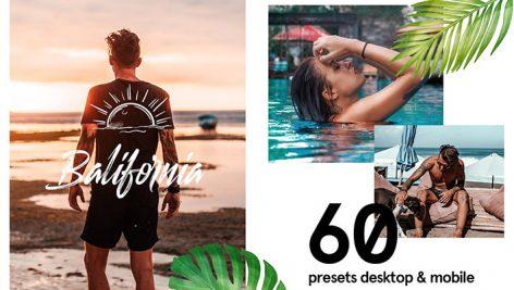 پریست لایت روم و کمرا راو تم فضای باز Balifornia Presets Bundle