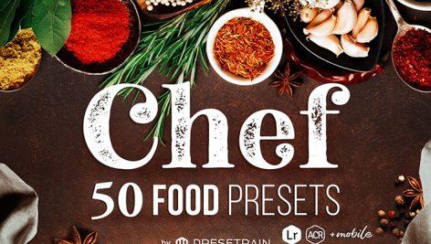 پریست لایت روم و کمرا راو تم مواد غذایی Chef 50 Food Presets