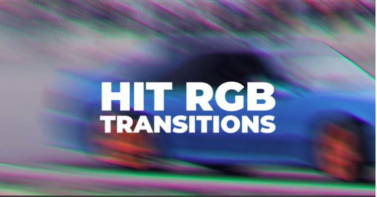 دانلود ترنزیشن پریمیر با افکت پرش رنگ Hit RGB Transitions