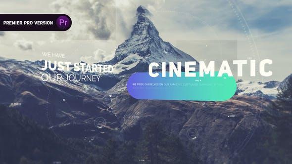 دانلود پروژه آماده پریمیر با موزیک  اسلایدشو سینمایی Cinematic Slideshow
