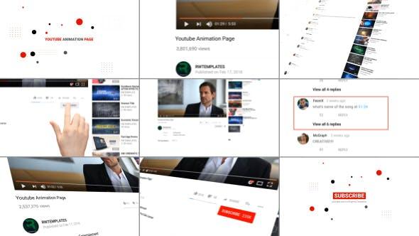 دانلود پروژه افترافکت تبلیغات کامل یوتیوب Youtube Animation Page