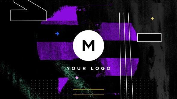 دانلود پروژه پریمیر  لوگو و آرم Grunge Distortion Logo