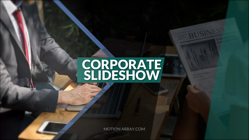 پروژه آماده پریمیر اسلایدشو معرفی شرکت Corporate Slideshow