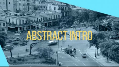 پروژه آماده پریمیر با موزیک تیتراژ سینمایی Abstract Urban Intro
