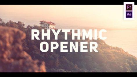 پروژه آماده پریمیر با موزیک : تیتراژ و وله ریتمیک Rhythmic Modern Opener