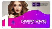 پروژه آماده پریمیر با موزیک تیتراژ و وله فشن و اسپرت Fashion Waves Typography Opener