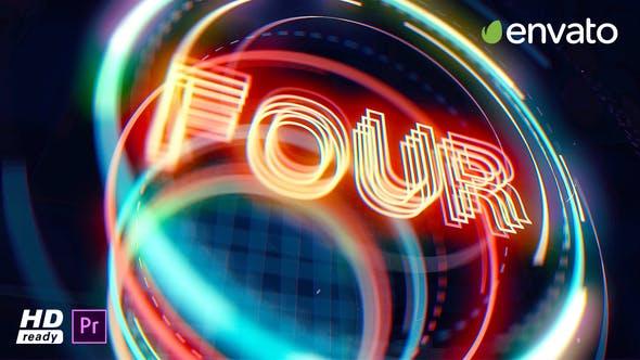 پروژه آماده پریمیر با موزیک شمارش معکوس Countdown Opener for Premiere Pro
